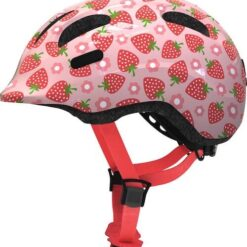 Abus Kinder Fietshelm Smiley 2.1 - Rose Strawberry