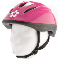 Pexkids Fietshelm Junior Flowers Roze